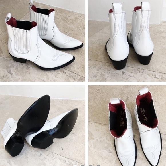 Frye White Cowboy Boots